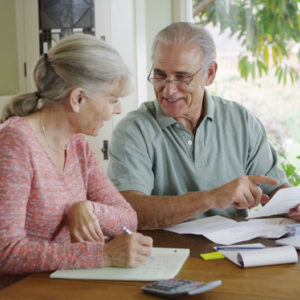 Couple paying off debts