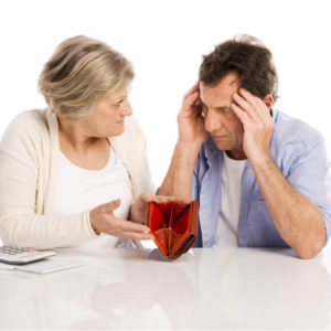 Couple with empty wallet