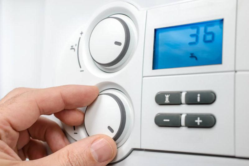Gas boiler control panel