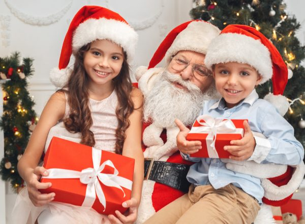 Santa with kids