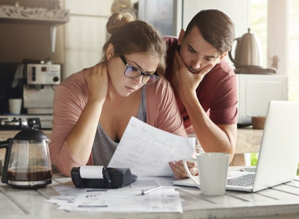 Stressed-Couple-With-Debt